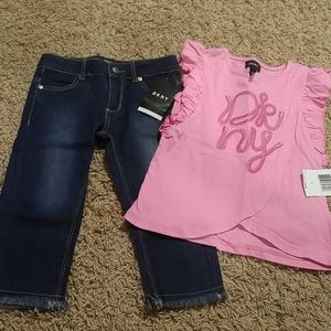DKNY girls jeans and top 6